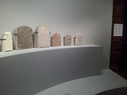 The label for these several stelae (some not pictured) is over on the far right. The text said they were described from right to left, but it didn't seem to match up.